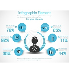 INFOGRAPHIC MODERN PEOPLE BUSINESS NEW STYLE 2 vector image