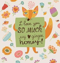 loving foxy vector image
