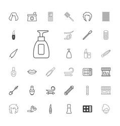33 cosmetic icons vector