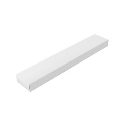 3d white long cardboard closed box with shadow vector