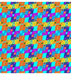 Abstract geometric seamless pattern on blue vector image