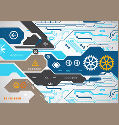 abstract technology circuit board communication vector image