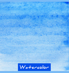 blue watercolor hand drawn textured background vector image