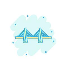 Bridge sign icon in comic style drawbridge vector
