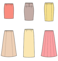 Business skirt vector image