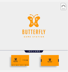 butterfly game logo design template animal vector image