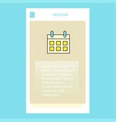 calendar mobile vertical banner design design vector image