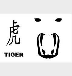 Chinese year of the tiger vector