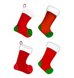 christmas sock icon set symbol design winter vector image
