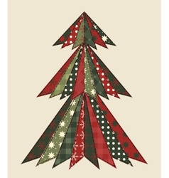 Christmas tree for scrapbooking 2 vector image