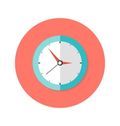Clock Flat Circle Icon vector