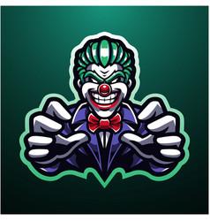 clown esport mascot logo design vector image