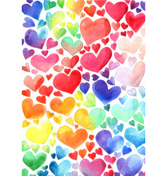 Colorful rainbow hearts background for decoration vector