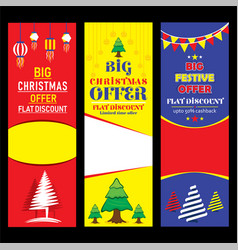 creative merry christmas flyer design vector image