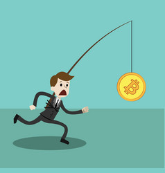 Crypto-currency market businessman or manager vector