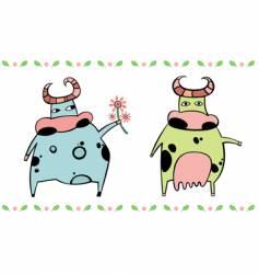 cute cows vector image