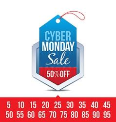 Cyber monday sale badge vector