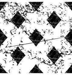 Diamonds pattern grunge monochrome vector image