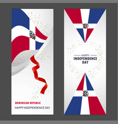 Dominican republic happy independence day vector