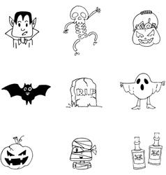 Doodle Halloween character flat vector image