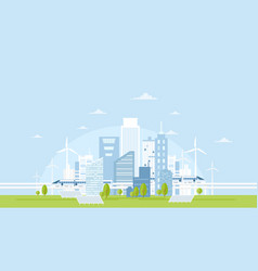 eco city skyline with vector image