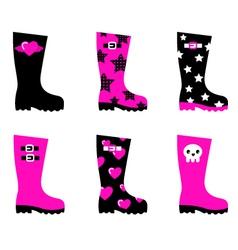 emo rain boots vector image