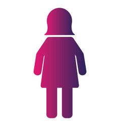 female pictogram user person icon vector image