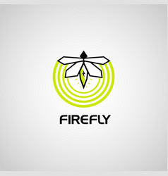 firefly logo symbol icon vector image