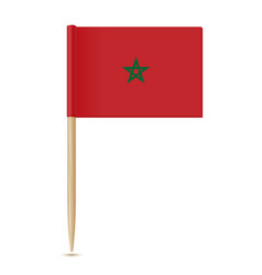 flag of morocco flag toothpick 10eps vector image
