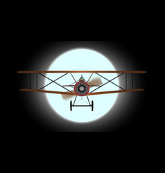 flying night vector image