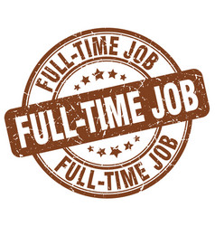 full-time job vector image