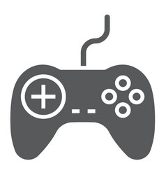 Gamepad glyph icon electronic and device vector