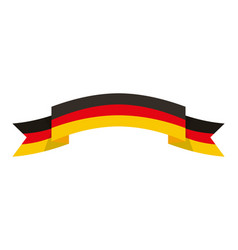 germany flag ribbon symbol national vector image