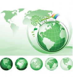global conservation concept vector image