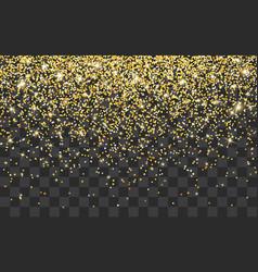 golden glitter sparkle on a transparent vector image
