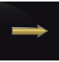 Golden metal arrow vector image