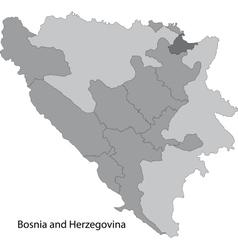 Gray Bosnia and Herzegovina map vector image
