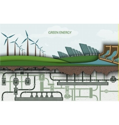 green energy Wind-powered electricity vector image