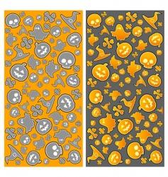 Halloween pattern vector image