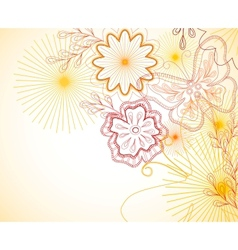 Hand-Drawn floral ornament vector