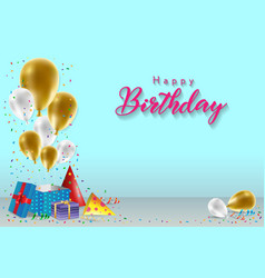 happy birthday background template vector image