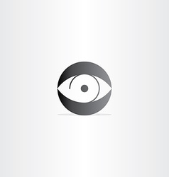 human eye circle icon vector image