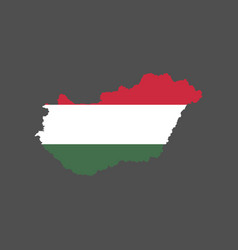 hungary flag and map vector image