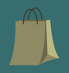 Icon in flat design fashion paper bag vector
