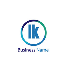 Initial letter lk logo template design vector