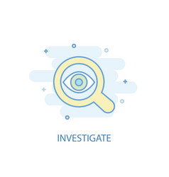 Investigate line concept simple line icon vector
