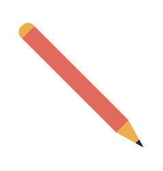 isolated pencil icon image vector image