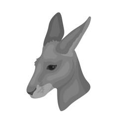 kangaroo icon in monochrome style isolated on vector image