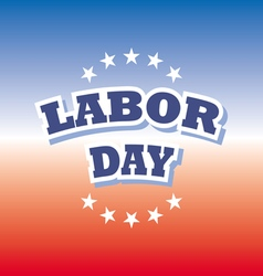 labor day america banner on red and blue vector image