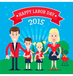 Labor Day Family vector image